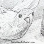 Paper Bird with Journal Sketch