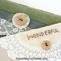 """Wonderful"" Handmade Paper Doily Card"