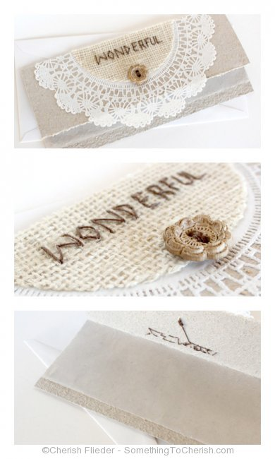 Cherish Flieder, Something to Cherish, handmade, card, greeting, thank you, DIY, craft, step-by-step, lace