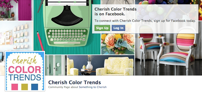Cherish Color Trends on Facebook