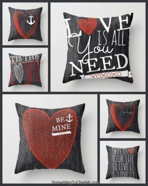 Valentine's Day Giveaway Square Pillows