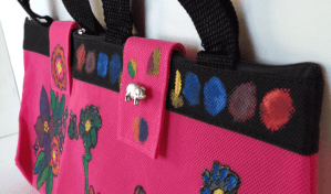Fabric Paint Fashion Handbag
