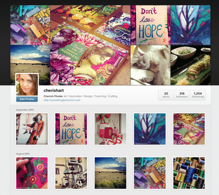 Follow Cherish Flieder on Instagram