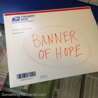 My Banner of Hope on its way to the CHA SHOW in Anaheim, California