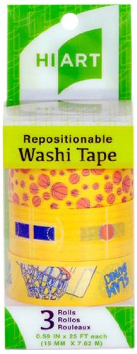 Basketball themed sports decorative washi tape from HiArt.