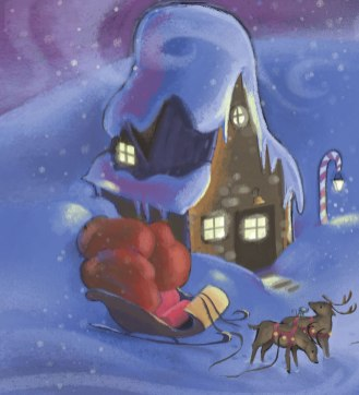 Award winning Christmas Children's Book about a Purple Santa Suit!