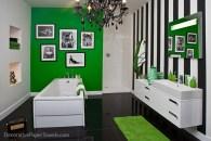 Green and White Zebra Print Paper Towels