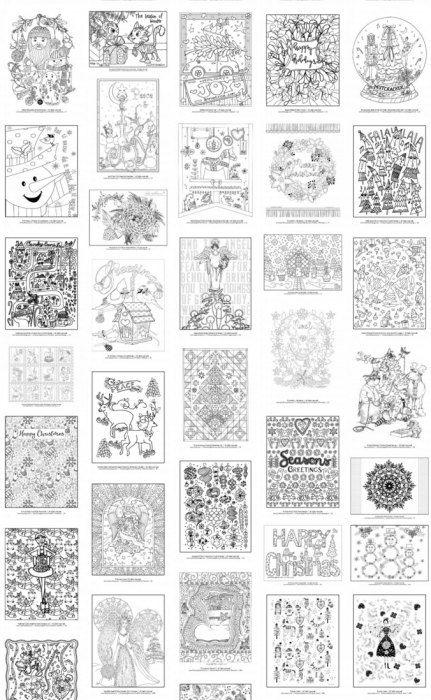 Free Coloring Book Samples - 92 Total Pages of Stress-Free Adult Coloring Fun