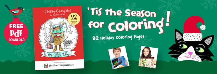 92 Free Holiday Coloring Book Pages From Art Licensing Show