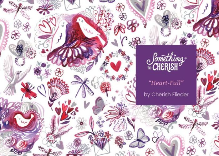 Valentine's Day Art for Licensing on Fabric by Cherish Flieder of Something to Cherish