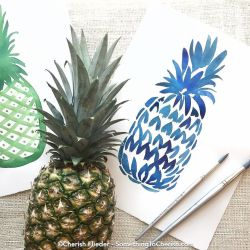 The_sweet_scent_of_pineapple_fills_the_air_while_I_warm_up_with_some_loose_gesture_marks.______pineappleart___lifeofadventure__tropical