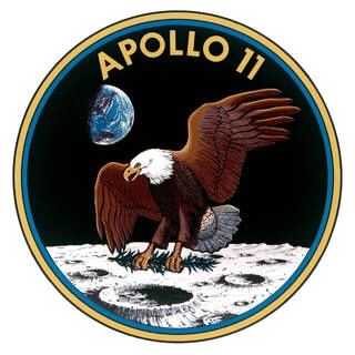 Apollo 11 - Eagle Patch - NASA Account of Moon Landing