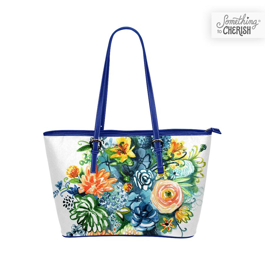 """Cultivate Joy"" Vegan Leather Handbag of Something to Cherish"
