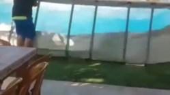 man rips pool and creates backyard tsunami