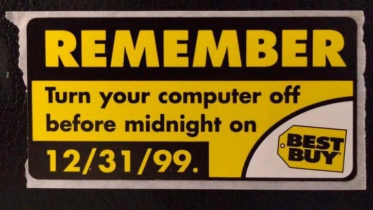 remember to turn off your computer 12/31/99 sticker