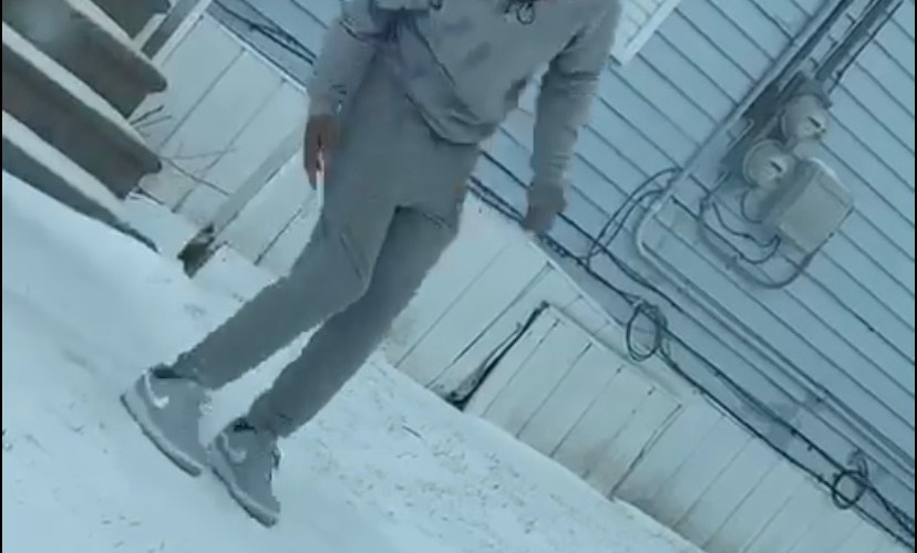 Man slips and fall on ice