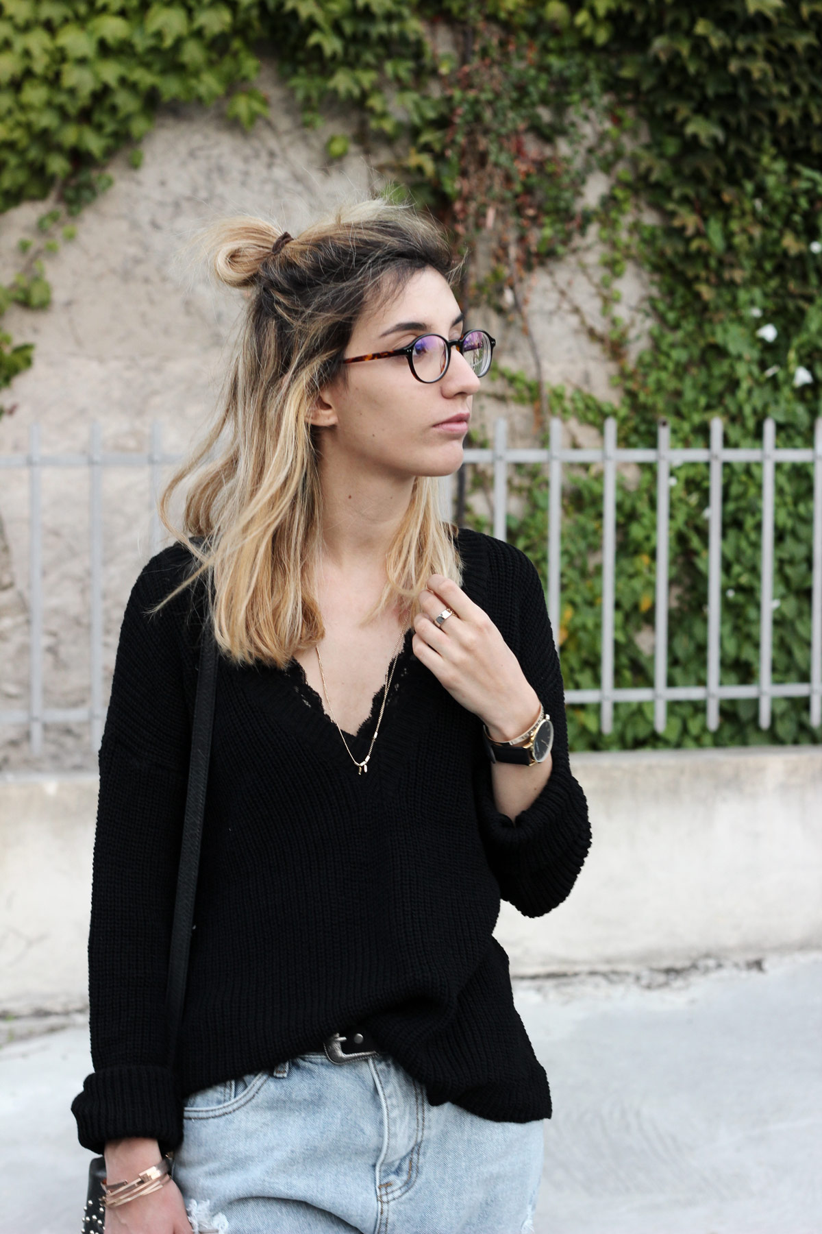 blog-mode-black-loose-sweater-shein