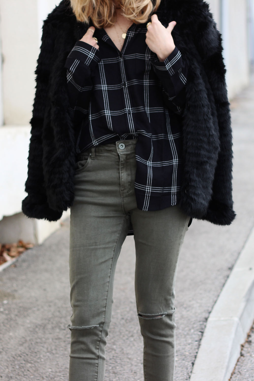 chemise-jeans-cache-cache-manteau-fourure-pimkie