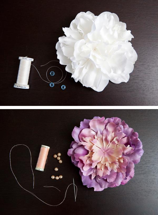 DIY flower hair piece