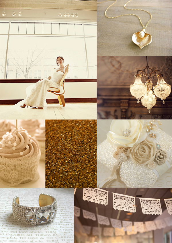 Gold and Cream Wedding Inspiration