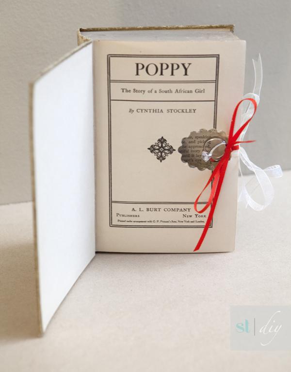 DIY wedding ring bearer book - Something Turquosie