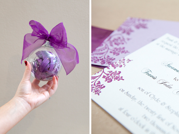 somethingturquoisecom diy make your wedding invitation into a christmas ornament - Make Wedding Invitations