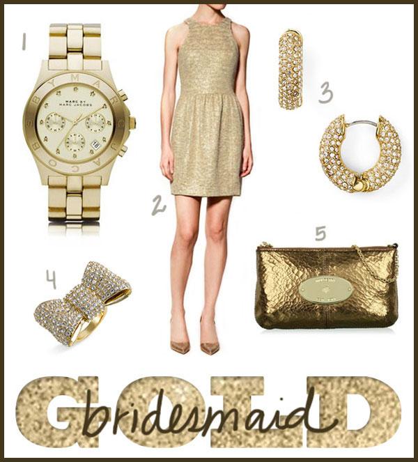 gold bridesmaid inspiration