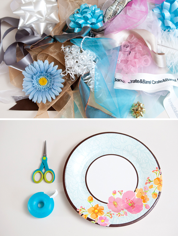 Make a wedding rehearsal bouquet out of all the bows from your bridal shower!
