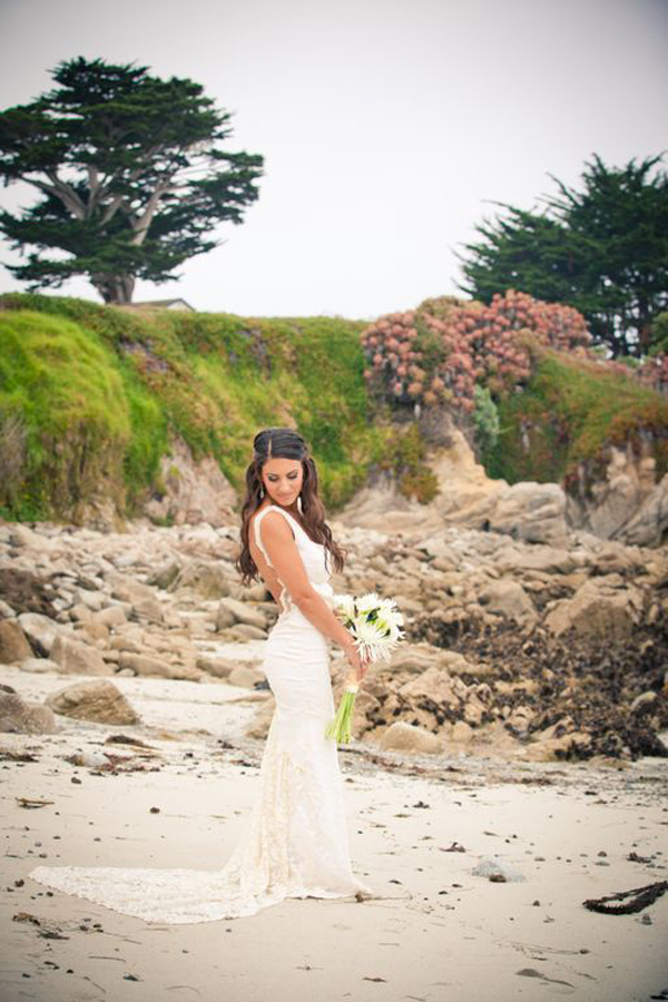 Lovers point beach wedding