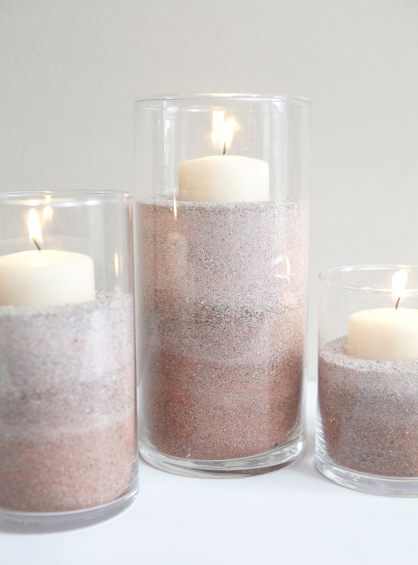 DIY ombre colored sand with food coloring