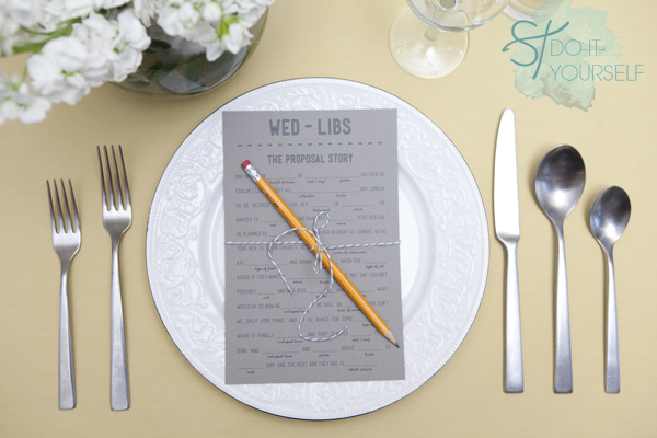 Easily Entertained - DIY wedding mad libs free printables