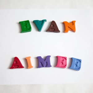 DIY kids wedding favor personalized alphabet crayons