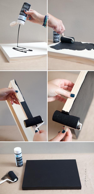 DIY chalkboard table number picture frames