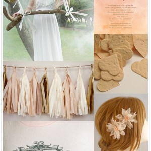 peach wedding inspiration from Etsy