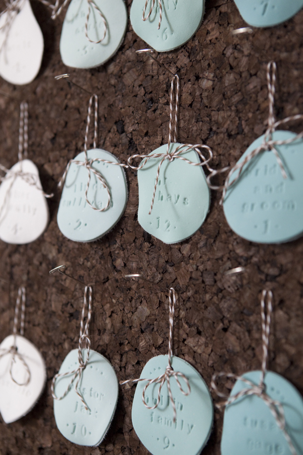 DIY stamped clay escort ornaments
