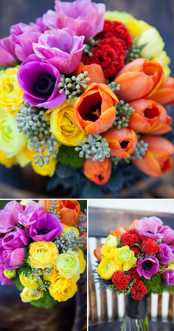 neon wedding bouquet