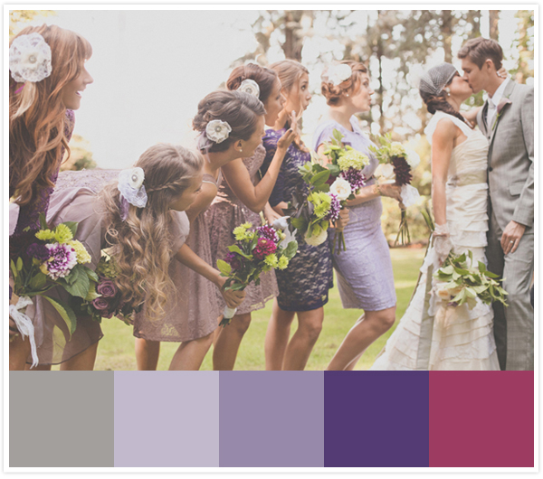 ST_bride_and_groom_kiss_in_front_of_bridesmaids