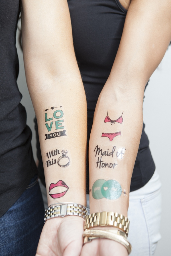 diy bachelorette temporary tattoos