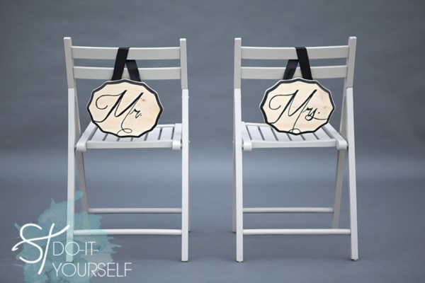 mr and mrs chair signs for toddler girl how to easily make diy your wedding invitations paper divas