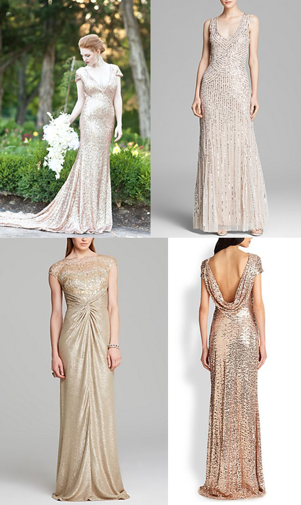 Check out these gorgeous sequin wedding dresses!