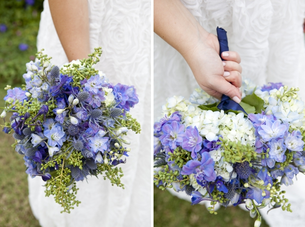 Check Out This Stunning Blue Wedding Bouquet