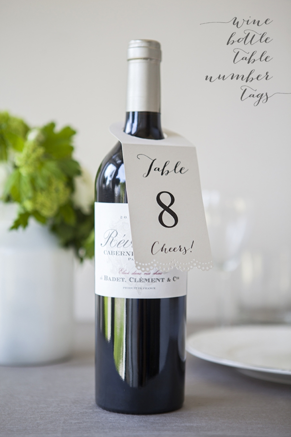 How to make FREE wine bottle table number hang tags – Wine Tag Template