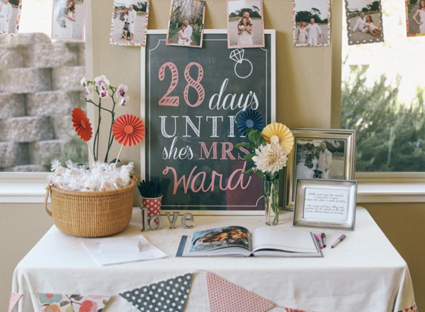 bridal shower decoration sign