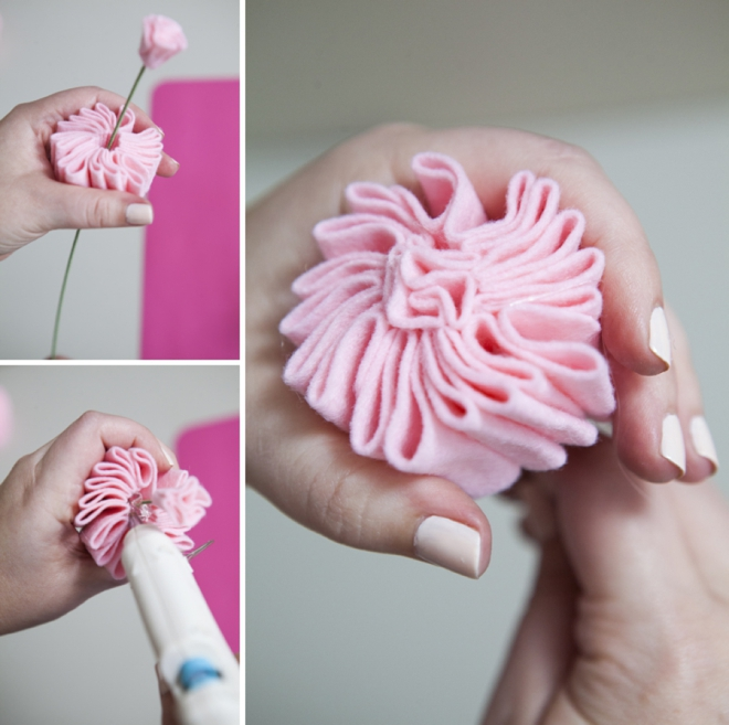 How to make a felt cabbage rose