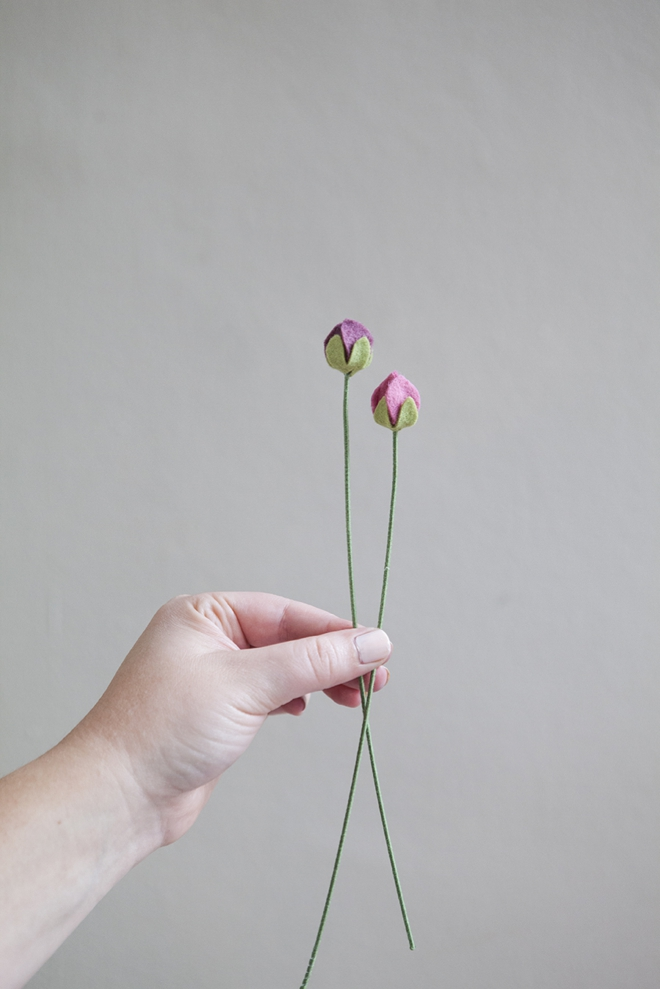 How to make felt ranunculus flowers