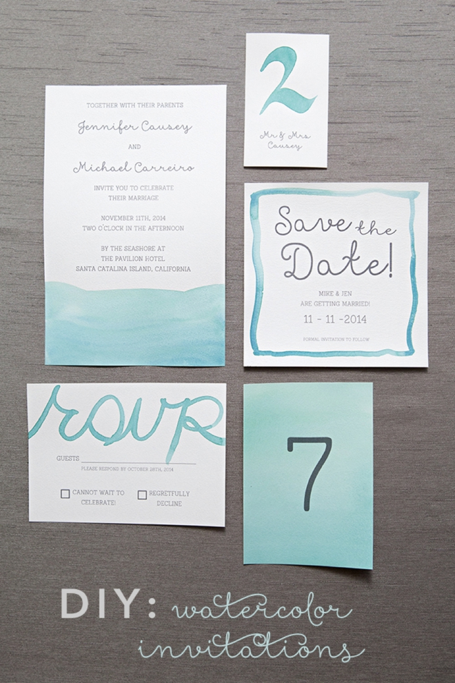 Learn exactly how to diy watercolor wedding invitations how to watercolor your wedding stationary junglespirit Choice Image