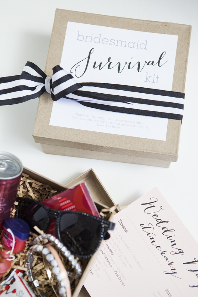 DIY Bridesmaid survival kit - so cute and so easy!