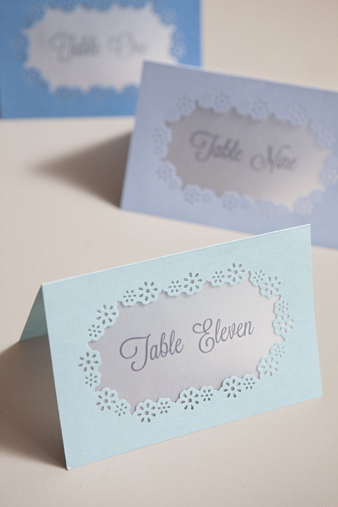 How to make hand-punched table number cards!