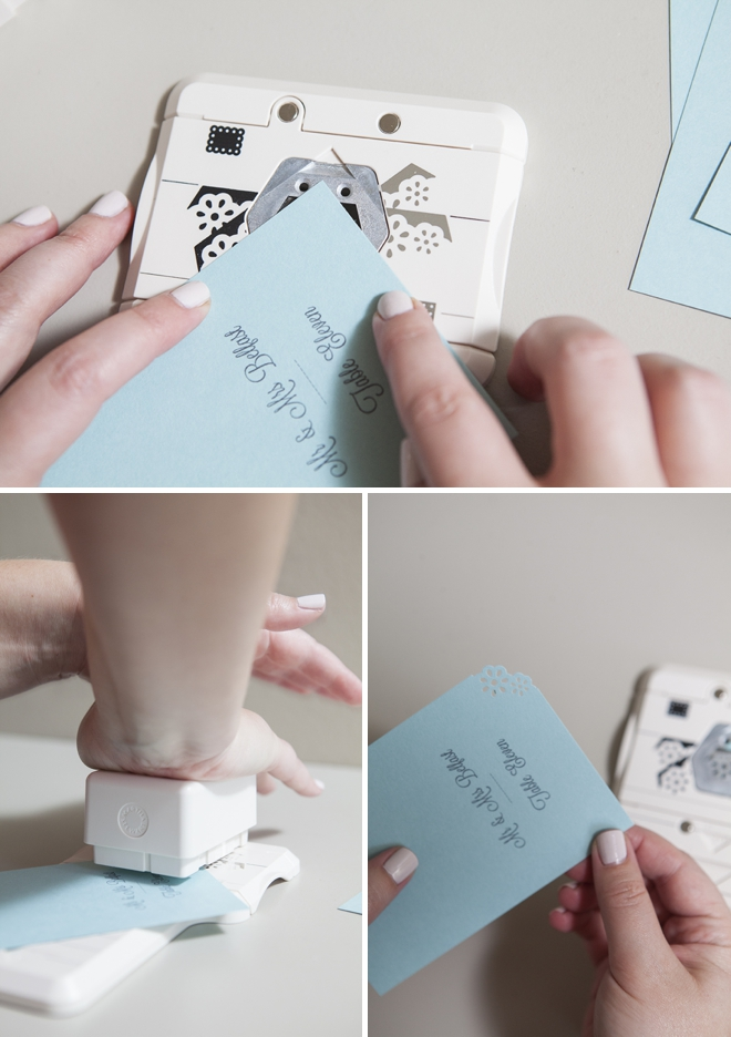 How to make simple escort cards using a scrapbooking punch!