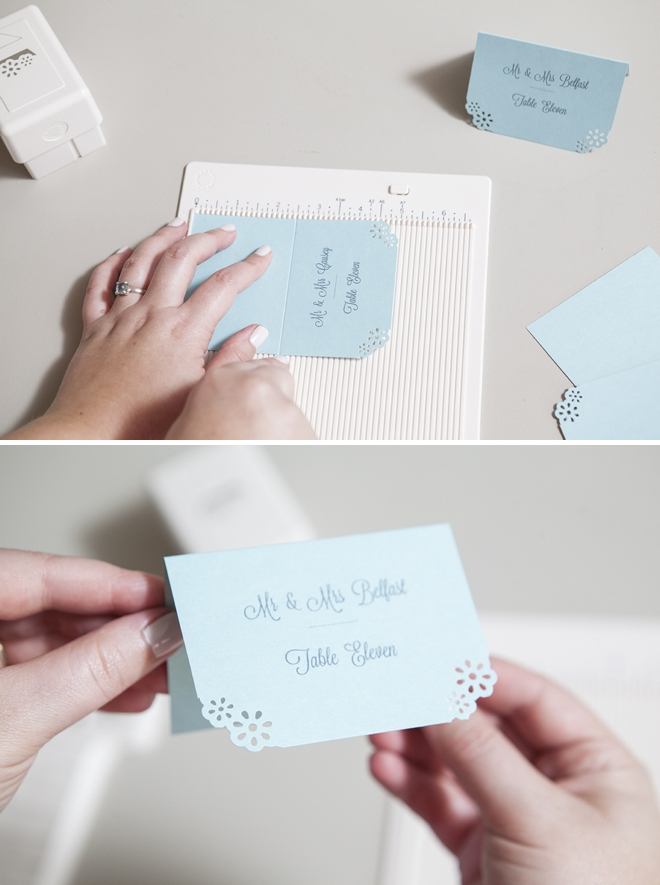 How to easily make your own darling escort cards
